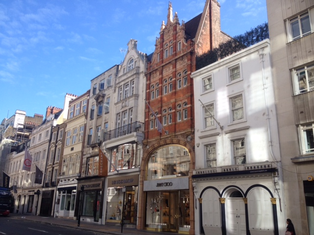 A selection of shops on New Bond Street