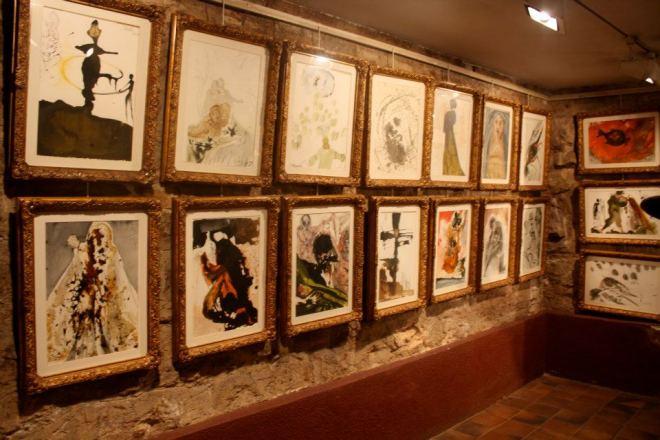 Salvador Dali prints on exhibition