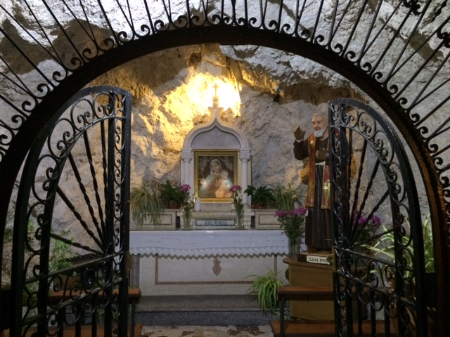 Tiny church in a cave in Castelmola