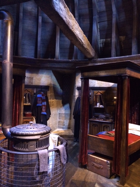 Harry's dormitory, which he shares with Neville, Ron, Dean and Seamus.