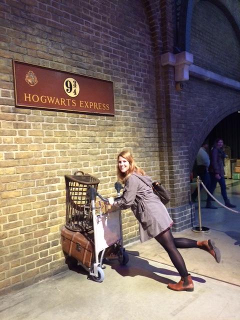 Platform 9¾ leading to the Hogwarts Express