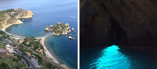 Isola Bella from above and Grotto Azzurra