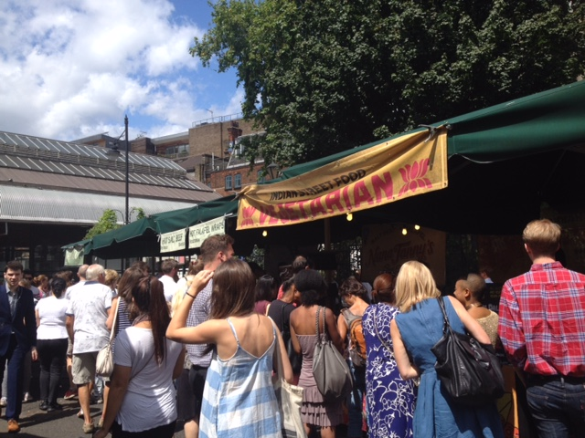 Food stalls at Borough Market.