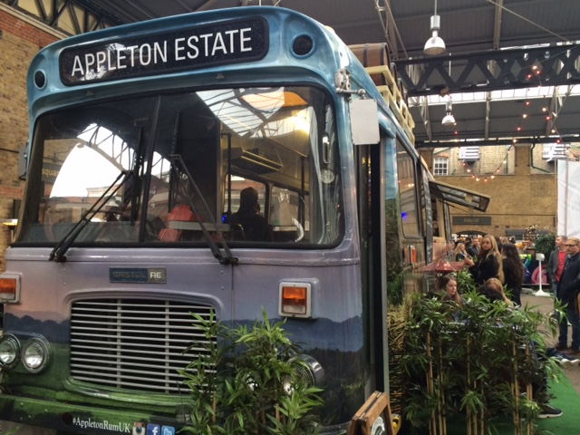 Rum cocktail bus stall as part of London Cocktail Week