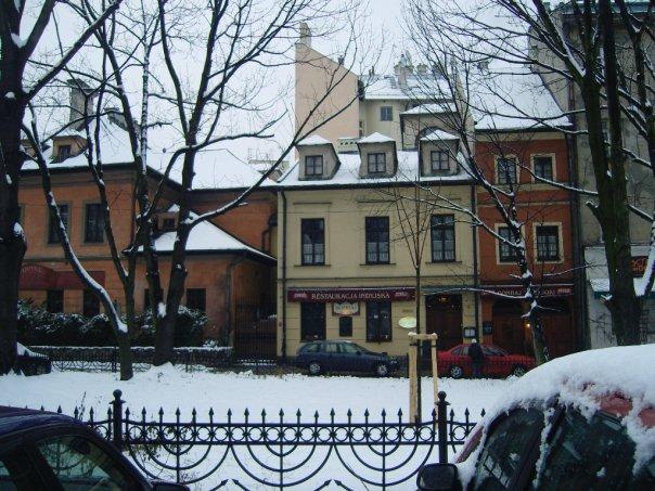 The Jewish quarter in Krakow.