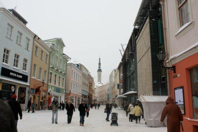 Shopping in Tallinn's Old Town.