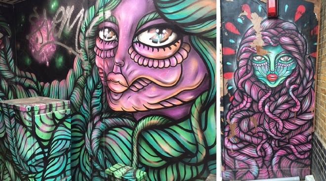 Swedish street artist Amara por Dios