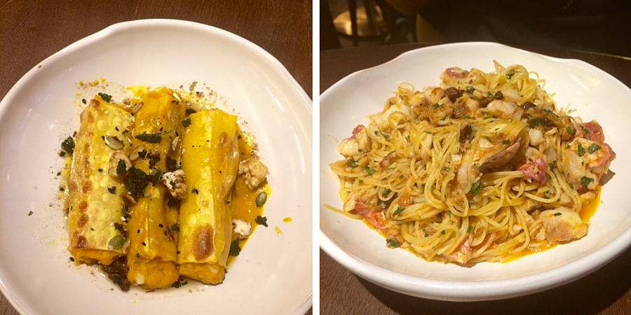 Pasta courses at Canto Corvino