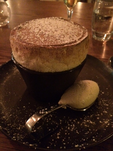 The delicious passion fruit souffle at Ryan's Kitchen.