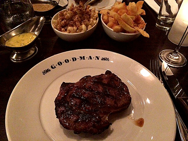 Rib-eye steak from Goodman