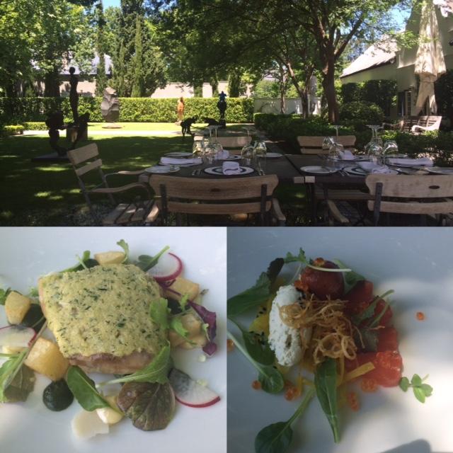 Lunch at Grande Provence in Franschhoek