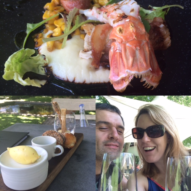 Lunch and wine at Grande Provence in Franschhoek